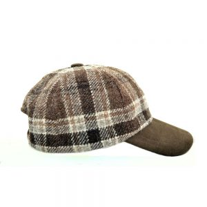 Orkney Tweed Baseball Cap Moleskin Left
